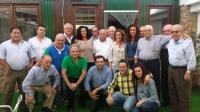 26-10-2014: La diputada provincial Carlota Romero se reunió con el PP de Montealegre, encabezados por el alcalde Sinforiano Montes y el vicesecretario de NNGG, Francisco Millán.