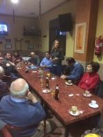 14-12-2015: Carmen Navarro en un encuentro con afiliados en Motilleja.