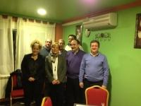 24-02-2014: Los diputados provinciales Valentín Bueno y Pablo Escobar en una reunión con el PP de Ossa de Montiel.