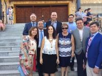 23-06-2016: Nutrida representación del Partido Popular junto a la portavoz Llanos Soria en la fiesta de Pozo Cañada.