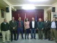 12-03-2014: El senador Vicente Aroca y la diputada provincial Carlota Romero se han reunido con el PP de Pozuelo de cara a las elecciones europeas de mayo.