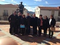 26-02-2014: La diputada nacional Irene Moreno y los diputados provinciales Abelardo Gálvez y Carmen Álvarez con militantes del PP de Riópar.