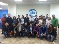 08-12-2015: Marcial Marín participó en la Ruta Joven de NNGG que llegó este fin de semana a Almansa.