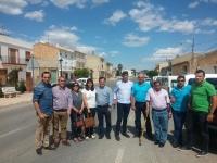 17-06-2016: Francisco Molinero, junto con los alcaldes de Alcadozo, Valdeganga y Ontur, tuvieron un encuentro con afiliados de Socovos y Tazona-Los Olmos.