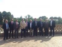 11-05-2015: Paco Núñez, con empresarios de Albacete, en el encuentro mantenido con Cospedal este lunes en Toledo.