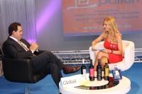 15-09-2012: El presidente del PP de Albacete y de la Diputación, Francisco Núñez,, entrevistado en la carpa televisiva de Visión 6, durante la Feria.