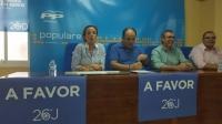 11-06-2016: Carmen Navarro y Vicente Aroca informaron sobre la campaña electoral en la sede del PP de Villarrobledo.