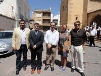 22-08-2012: Abelardo Gálvez y Maravillas Falcón con el portavoz del PP de Villalgordo del Júcar, Javier Urrea, en las fiestas del municipio.