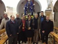 24-03-2013: La secretaria provincial del PP y diputada regional, Cesárea Arnedo, dio el pregón de Semana Santa en el Villar de Chinchilla, acompañada por alcaldes y portavoces de la comarca del Monte Ibérico.