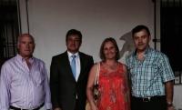 20-08-2015: Los parlamentarios Maravillas Falcón y Pablo Escobar, junto al presidente del PP de Yeste, Joaquin Altuzarra, en el pregón de las fiestas locales.