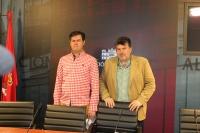 Ángel Alfaro y Antonio Serrano, alcaldes de Alcadozo y Peñas de San Pedro.