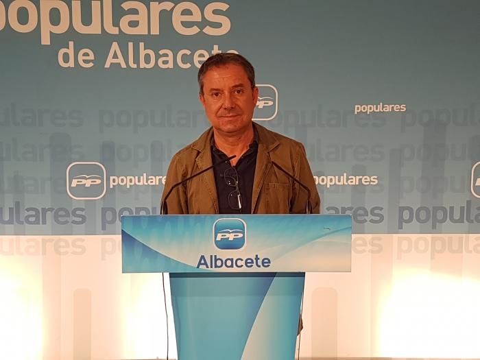 Antonio Martínez, en la sede del Partido Popular de Albacete.