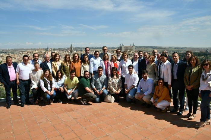 Cospedal se ha reunido este domingo con los presidentes provincial del PP de Castilla-La Mancha.