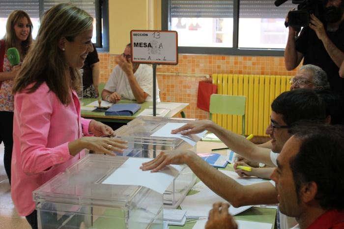 Carmen Navarro, en el Colegio Príncipe Felipe de Albacete.