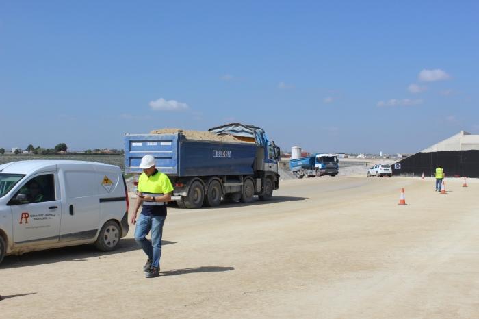 Obras en la Circunvalación Sur de Albacete que une la Autovía de Murcia con la futura de Jaén.