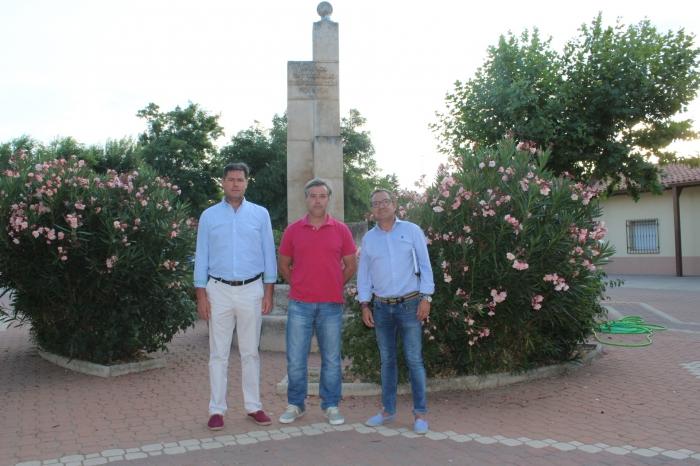 Ángel Alfaro, Juan Carlos Mozo y Antonio Martínez, en Vianos.