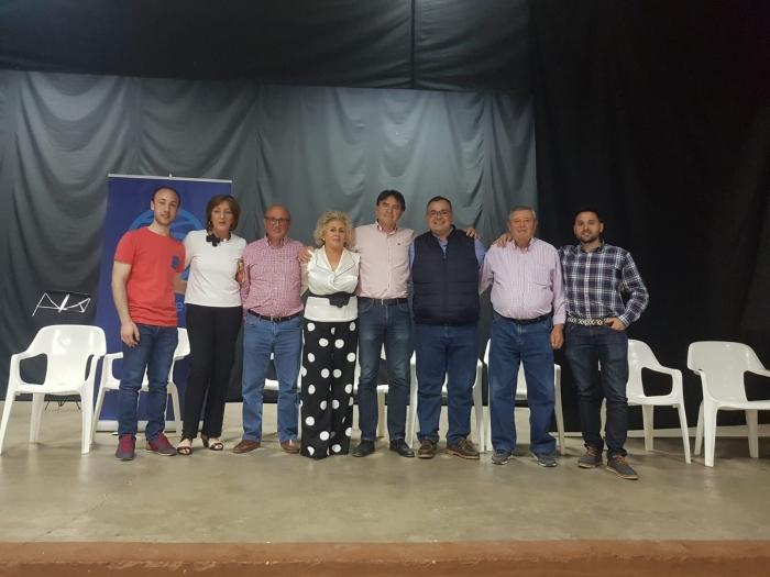 Bernardo Ortega, junto a la candidatura de Lezuza y Tiriez.