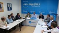 Reunión de la Comisión Regional del PP, en Cuenca.