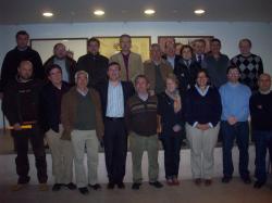Marcial Marín con los integrantes del comité de dirección provincial y los alcaldes y portavoces de la Comarca de Alcaraz