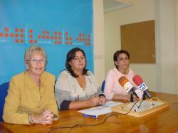 Marisefa Andújar, Cesárea Arnedo y Sonia Martínez.