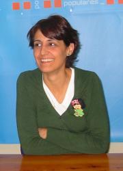 Sonia Martínez, portavoz del PP.
