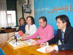 Componentes de la Comisión de Empleo del PP.
