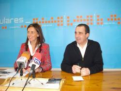 Carmen Fúnez y Manuel Mínguez, en Hellín.
