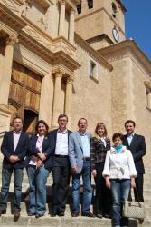 La candidatura, en la Plaza de la Iglesia de Hellín.