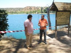 Antonio Serrano y José Tello, en las Lagunas de Ruidera.