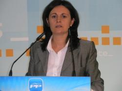 Amalia Gutiérrez, en la sede provincial del PP.