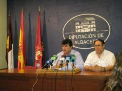 Antonio Serrano y Fidel Reyes Aparicio, en la rueda de prensa.