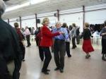la sala Scatin, donde los mayores de FADEMA celebraban con un baile el Día de la Mujer