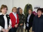 Carmen Bayod con Maravillas Falcón, Eva Navarro y Josefa González en la asociación AMMA