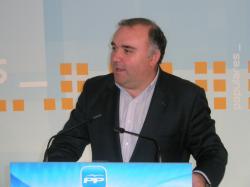 Constantino Berruga, en la sede provincial del PP.