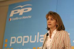 María Dolores Cospedal, hoy en Albacete.