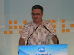 Fermín Cerdán, en la sede provincial del PP.