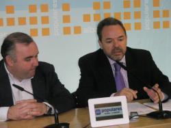 Constantino Berruga y Jesus Labrador, coordinador de Acción Política del PP-CLM.