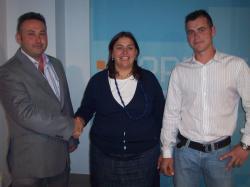 Francisco González, Cesárea Arnedo y Juan Carlos Martínez.