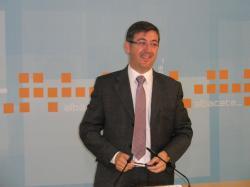 Marcial Marín, en la sede del PP.