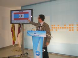 Marcial Marín, en la rueda de prensa sobre la Lotau.