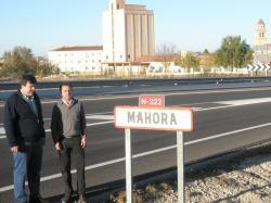Los diputados provinciales, Antonio Serrano y Antonio Martínez.