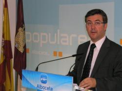 Marcial Marín, en la sede provincial del PP de Albacete.