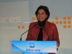 Mari Carmen Martín, en la sede provincial del PP.