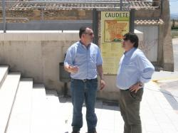 Los diputados provinciales José Miguel Mollá y Antonio Serrano, en Caudete.