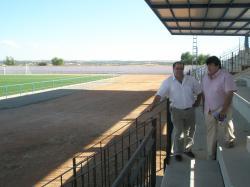 Pedro Pablo Sánchez y Antonio Serrano, en Munera.