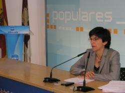 Natalia Tutor, en la sede provincial del PP.