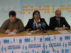 Antonio Serrano, Cesárea Arnedo y Juan Marcos Molina.