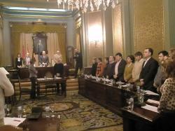 Minuto de silencio en la Diputación Provincial.