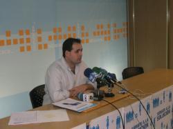 Francisco Núñez, en la sede del PP de Albacete.