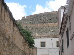 Vista del castillo de Peñas de San Pedro.